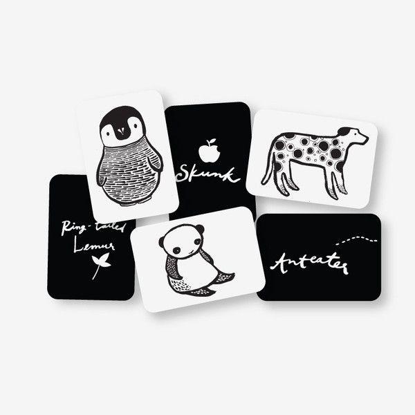 Art Cards for Baby - Black & White | Visual development, High ...