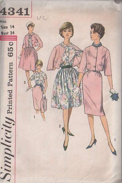 Momspatterns Vintage Sewing Patterns Simplicity 4341 Vintage 60s