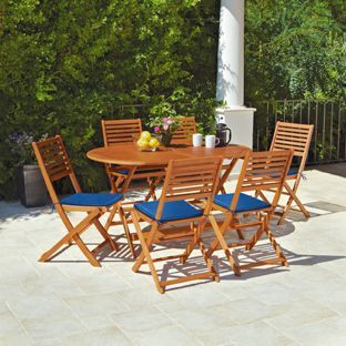 Buy Newbury 6 Seater Patio Set At Argos Co Uk Your Online Shop For Garden Table And Chair Sets Wooden Patios Patio Set Wooden Patio Furniture