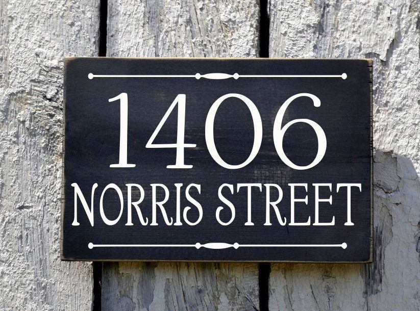 Address Plaque Custom House Numbers Sign Street Name House