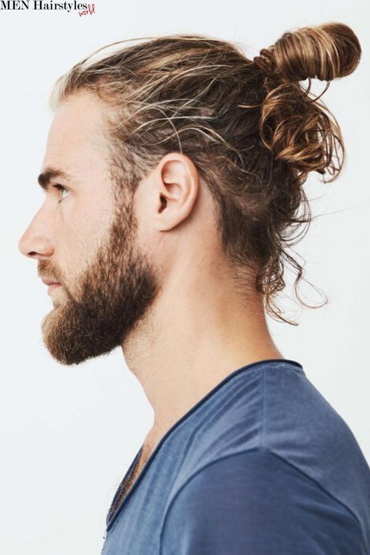 Cool Top Knot Styles For Men Man Bun Hairstyles Man Bun Styles Man Bun Haircut