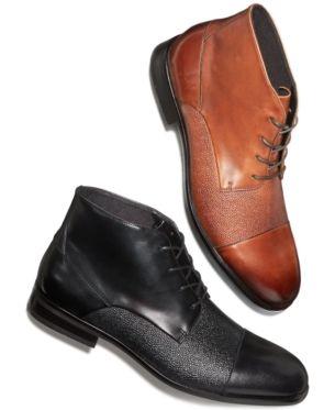 Alfani Men S Reide Textured Cap Toe Boots Created For Macy S