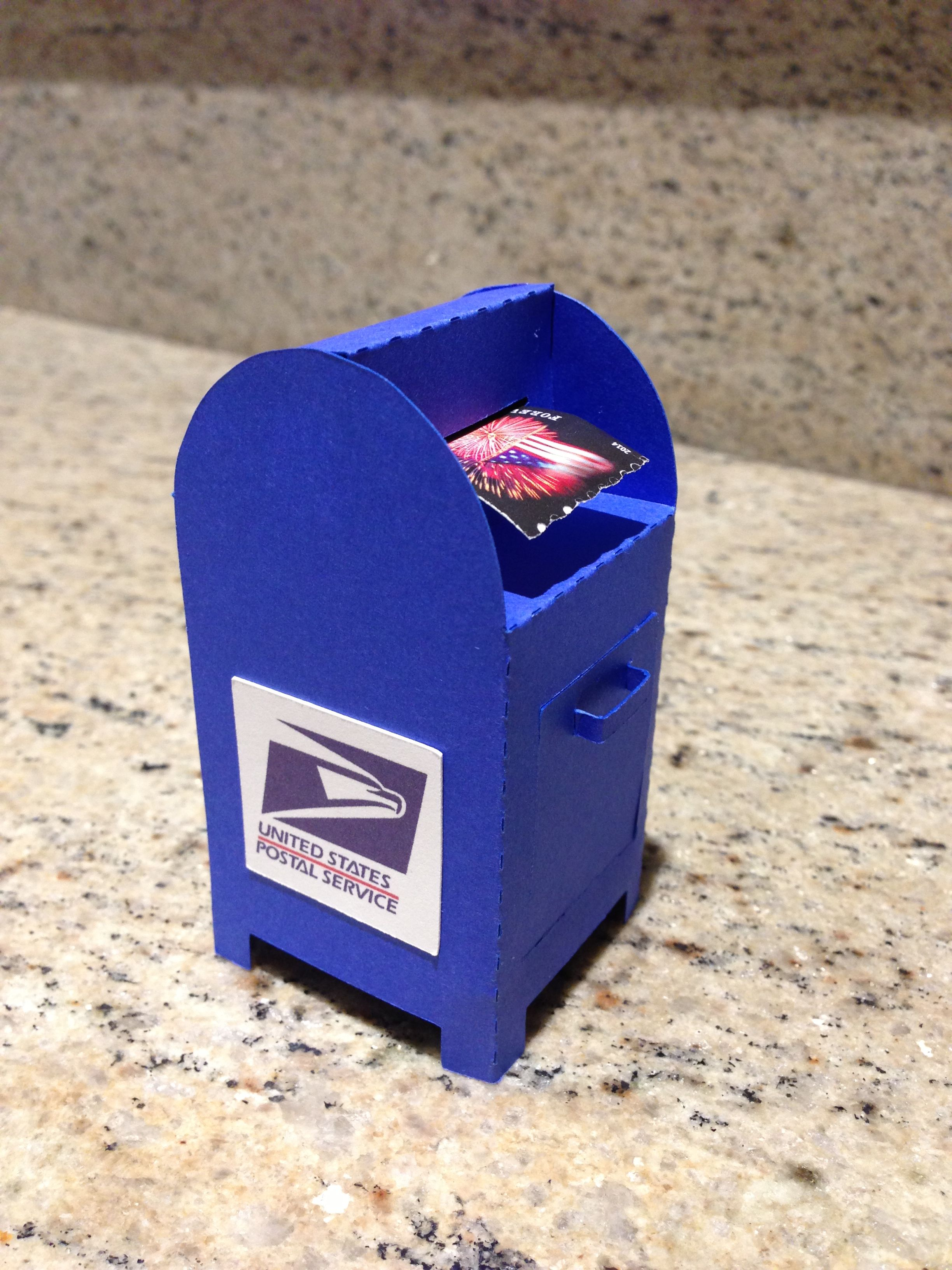 A Cute Little USPS Mailbox Postage Stamp Dispenser Pillow Box Stamps