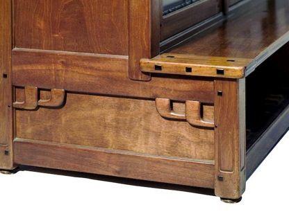 Detail Of Greene Greene Bookcase Craftsman Furniture Arts And Crafts Furniture Stickley Furniture