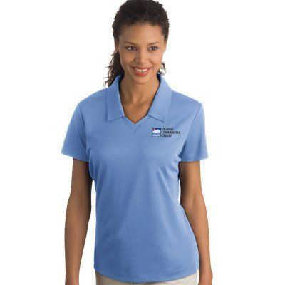 Have These Women S Contrast Polo Shirts Custom Embroidered With Your Company Logo Choose The Color Block Wicking Shirt By Charles River Made Topshield