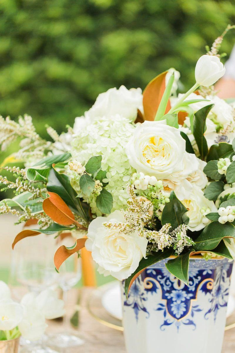 Blue and white wedding decor  Wedding Design Thatull Leave You Dreaming of Something Blue