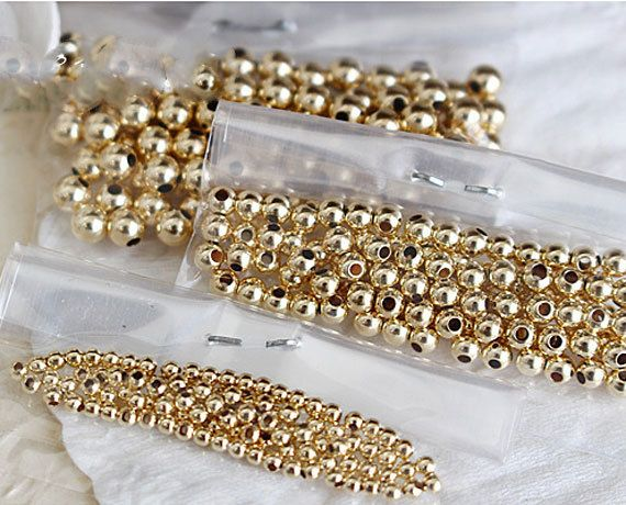 50 pcs Bulk 14k Gold Filled Beads Spacers SMOOTH SAUCERS Spacer