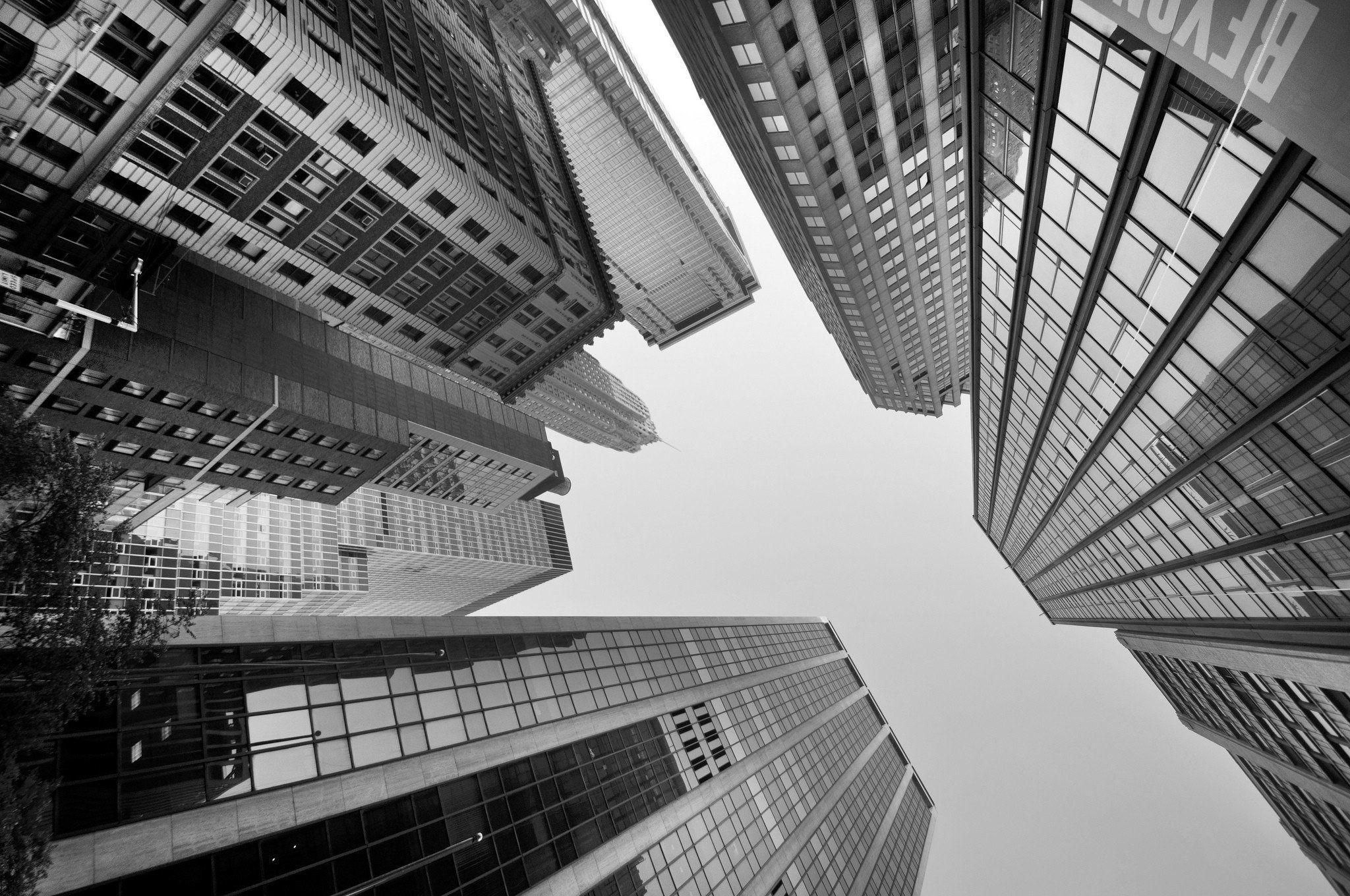 Skyscraper Monochrome Building Wallpaper Skyscraper