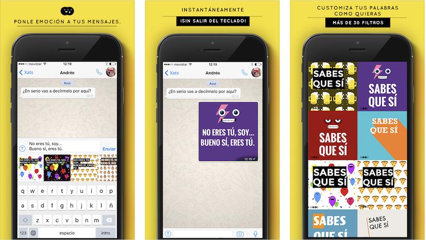Lee MOOD Keyboard para iPhone, manda mensajes de texto estilizados