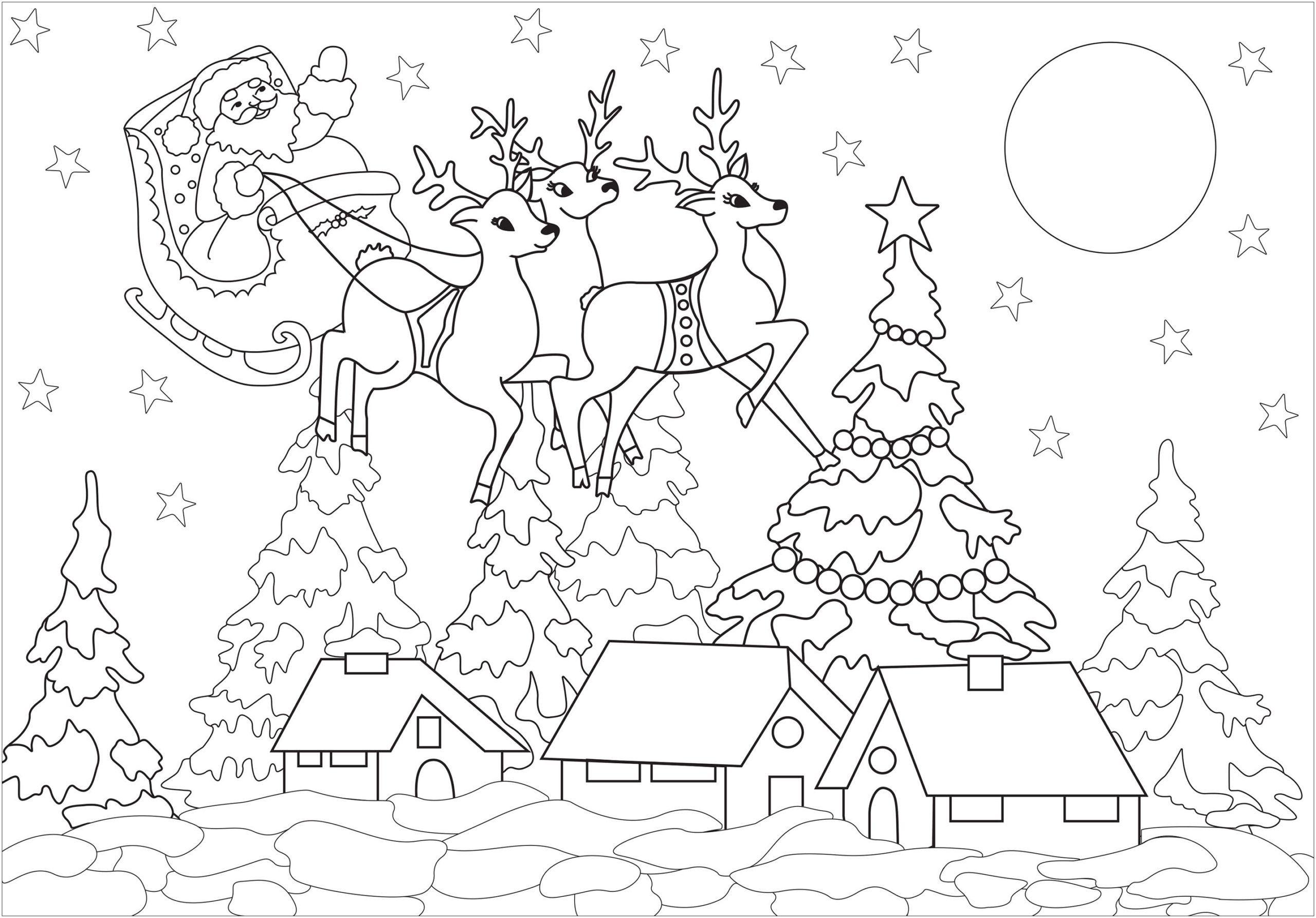 6 Farm Animals Preschool Printables Santa Claus Coloring