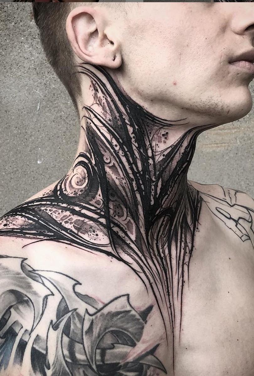 Staycold Longsleeve Throat Tattoo Neck Tattoo For Guys Neck Tattoo