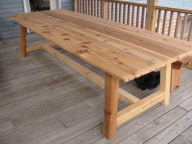 Large Outdoor Dining Table Cedar Outdoor Dining Table Dining Table Outdoor Dining Table Diy