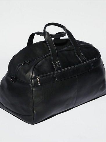 5efaa406325b0 Kenneth Cole Black Leather Duffle Bag - Men's Wearhouse - $400 ...