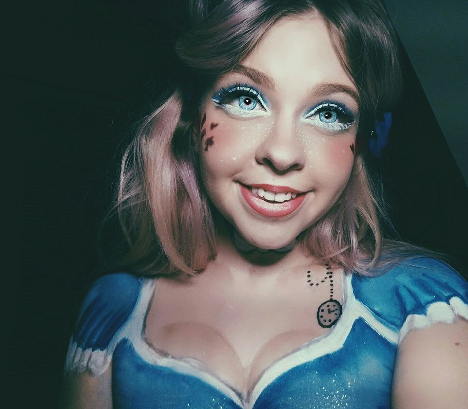 from glam to gore: alice in wonderland makeup!