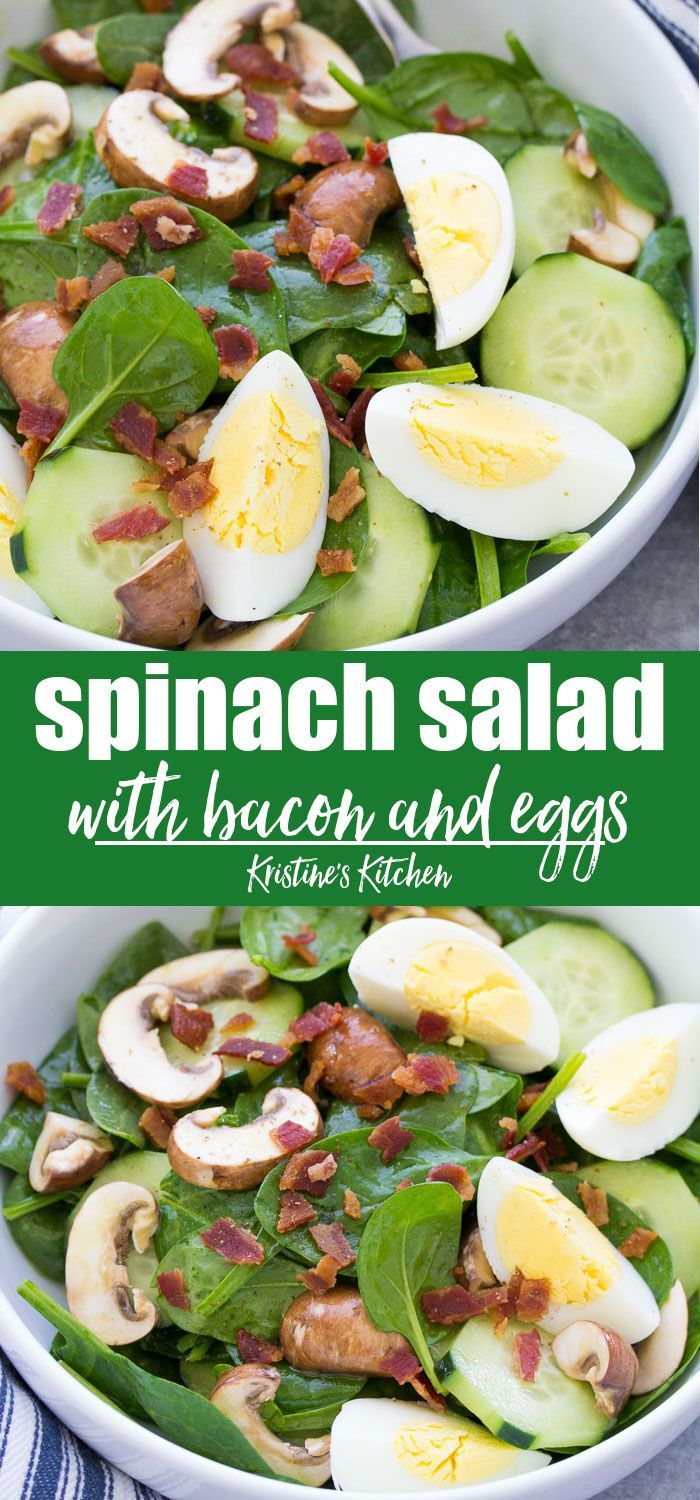 Spinach Salad with Bacon and Eggs images