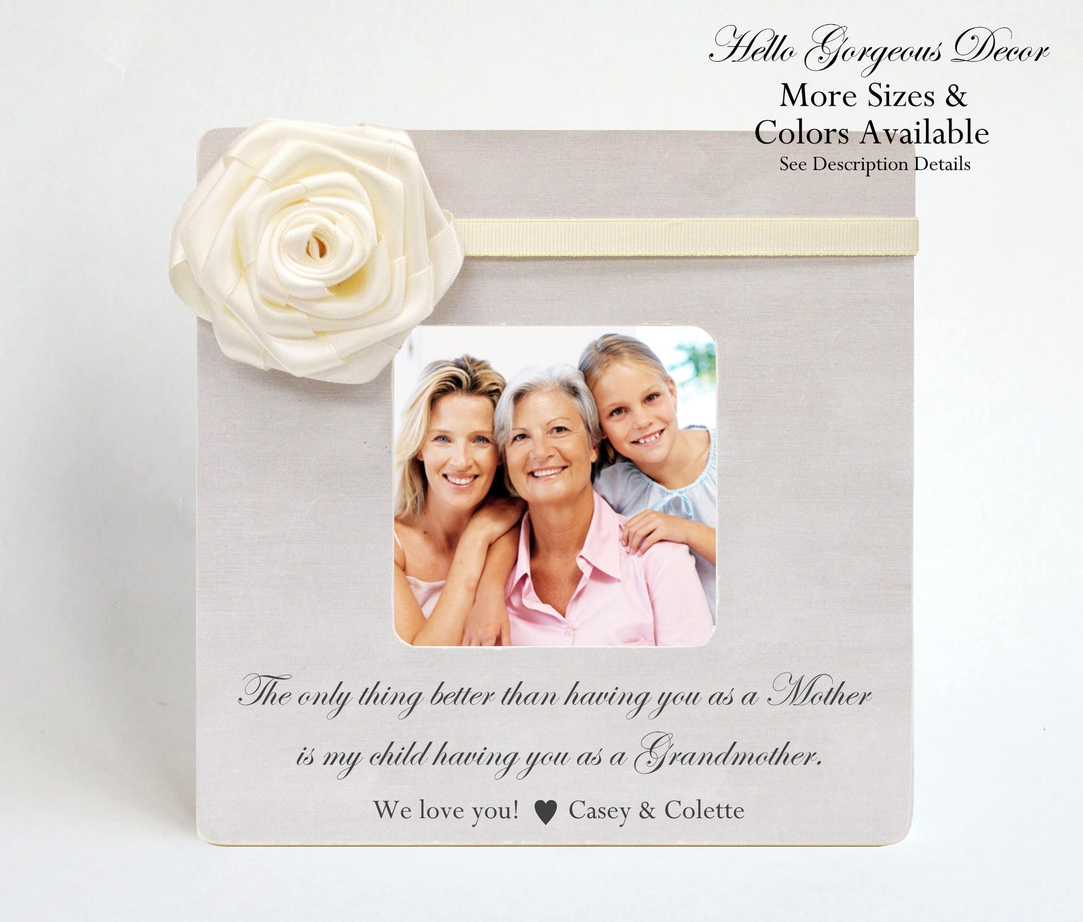 Mother\'s Day Gift Grandmother Mom Picture Frame Personalized Gift ...