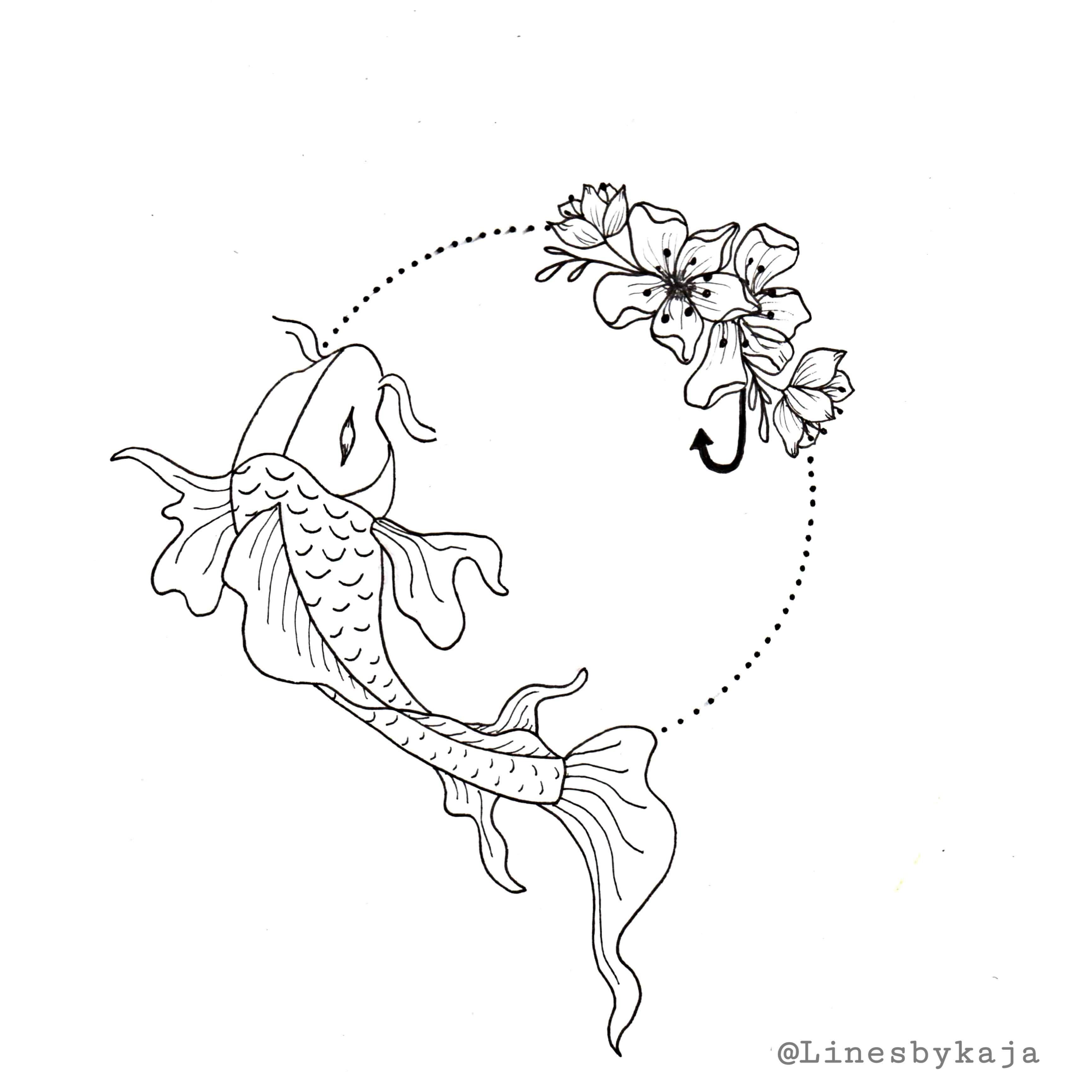 Koi Fish Design In 2020 Koi Fish Drawing Tattoo Simple Tattoo Designs Drawings