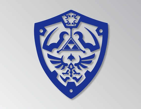 Legend of zelda shield logo vinyl decal sticker bumper sticker decal