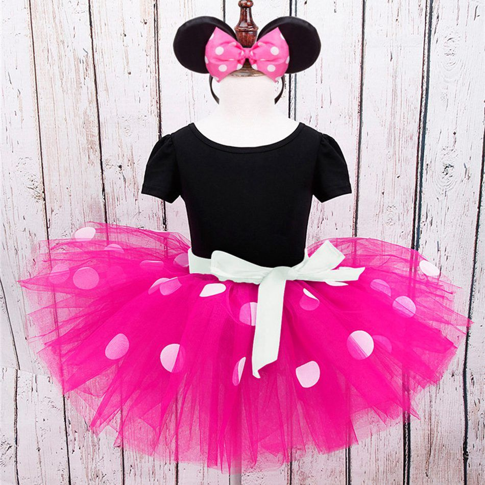 Kids Girls Baby Minnie Mouse Costume Princess Fancy Dress Up Birthday Outfits