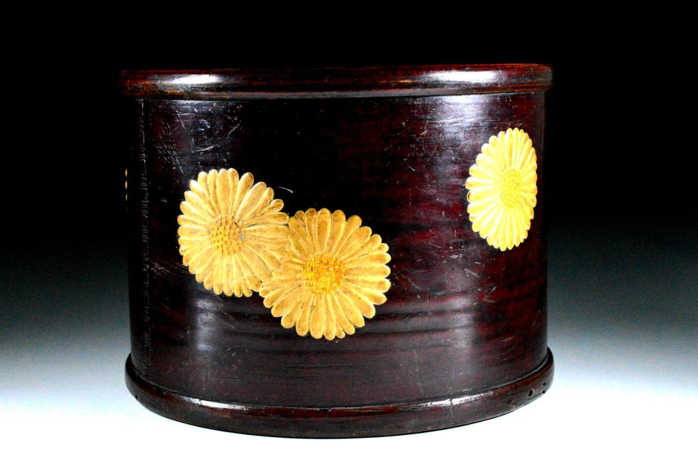 Japanese Traditional Lacquered Hibachi - Japanese Traditional Lacquered - Antique Wooden Brazier by JapaVintage on Etsy
