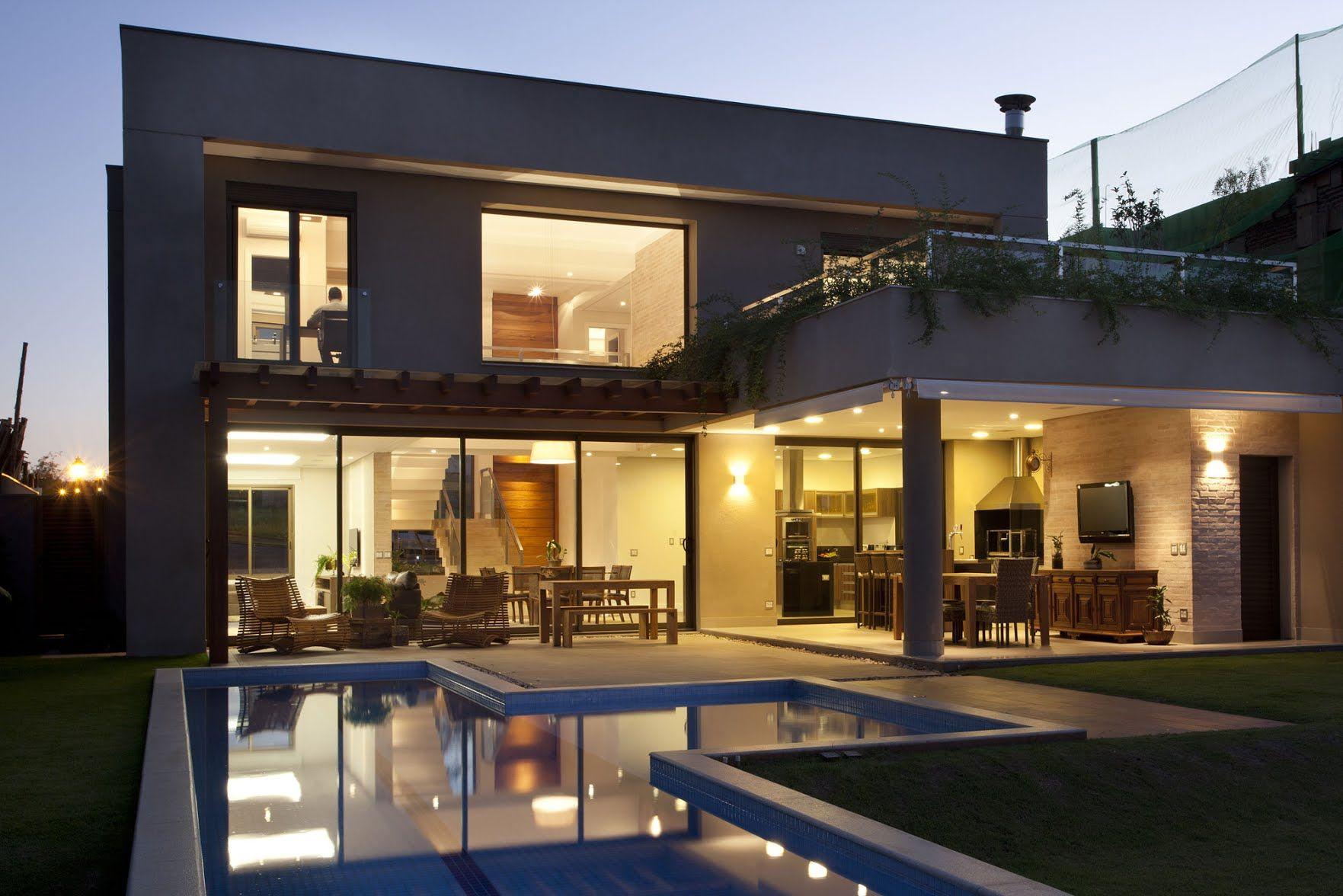 Residencia DF by Pupo Gaspar Arquitetura Fachadas de