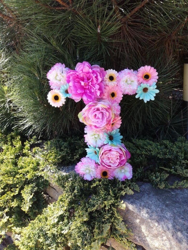 Litera T Kwiaty Boho Romantyczne Floral Floral Wreath Wreaths