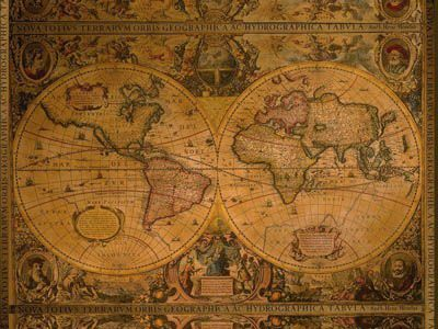 old school world map - Recherche Google | Tattoos | Map, Old maps ...
