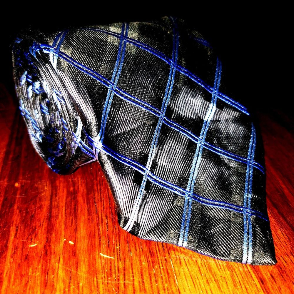 f272b4d55a29 Geoffrey Beene Black Blue Striped RARE Hand Made Silk Men's Necktie Tie  #fashion #clothing #shoes #accessories #mensaccessories #ties (ebay link)