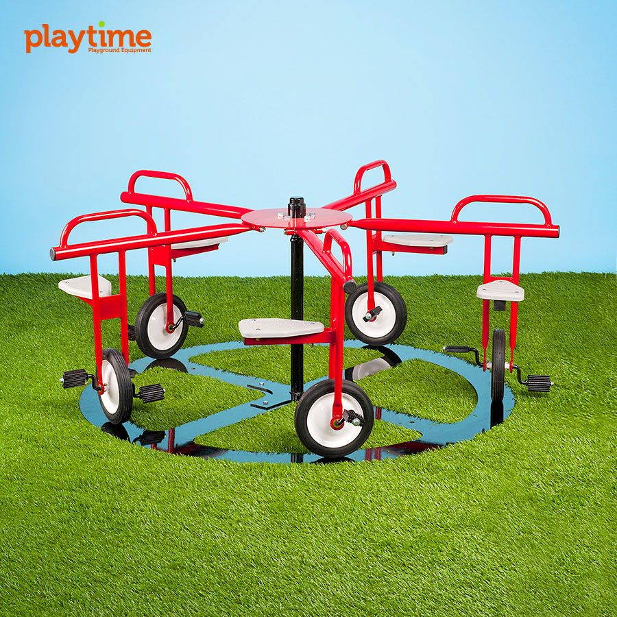 ingenious unicycle carousel belongs in my outdoor playspace