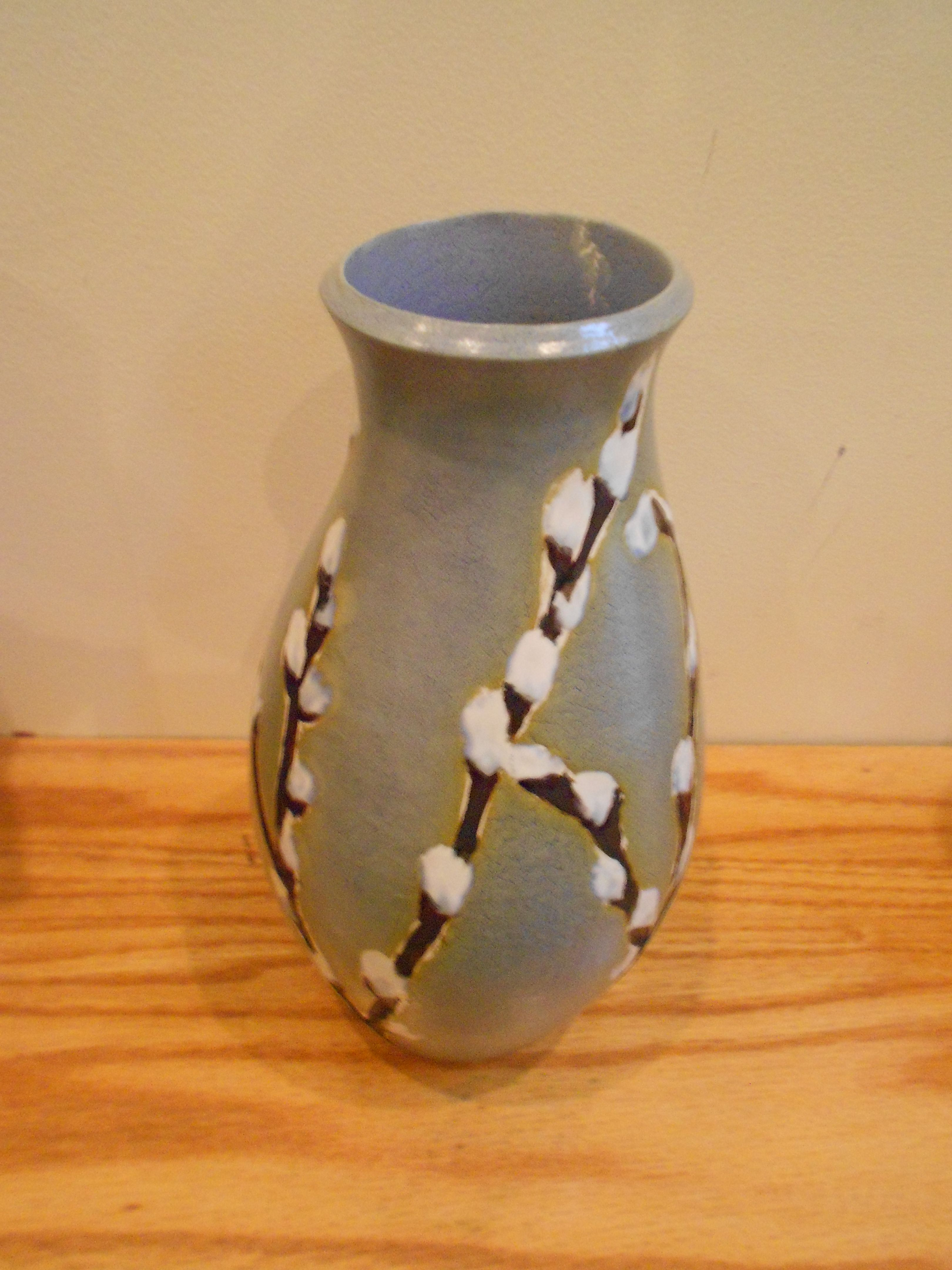Laura Wowk Pottery wheel thrown white stoneware, with underglaze, wax resist, and multiple firings to cone 6