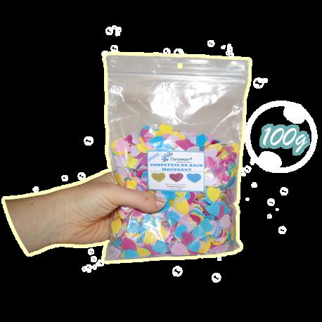 ✭ Confettis de bain moussant cœur - Boite de 100g ✭