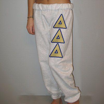 Delta Delta Delta Sorority Sweatpants #Greek #Sorority #Clothing #Sweatpants #TriDelta #DeltaDeltaDelta