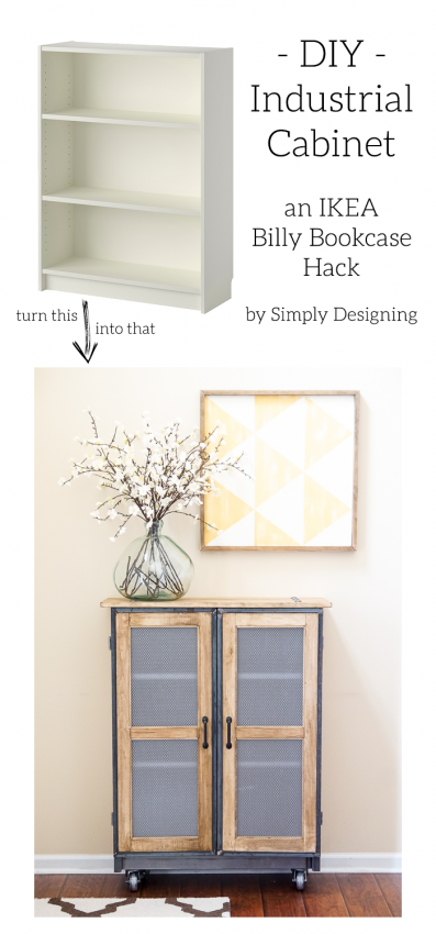 Diy Industrial Cabinet Hack Bookshelves Diy Ikea Furniture Makeover Ikea Diy