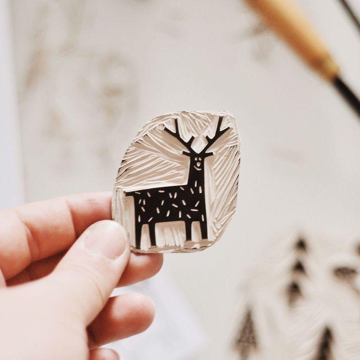 Linocut Prints - #carving #linocut #Prints #eraserstamp