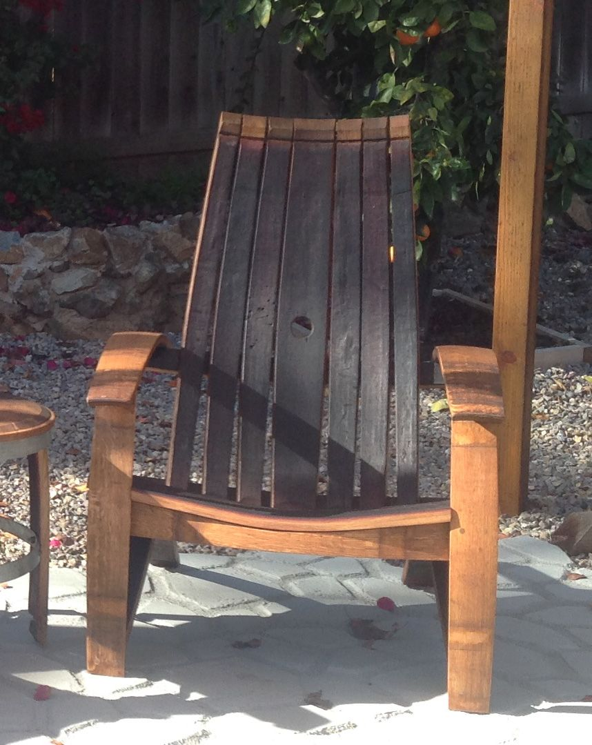 Wine Barrel Chair | Wine barrel chairs, Outdoor chairs ...