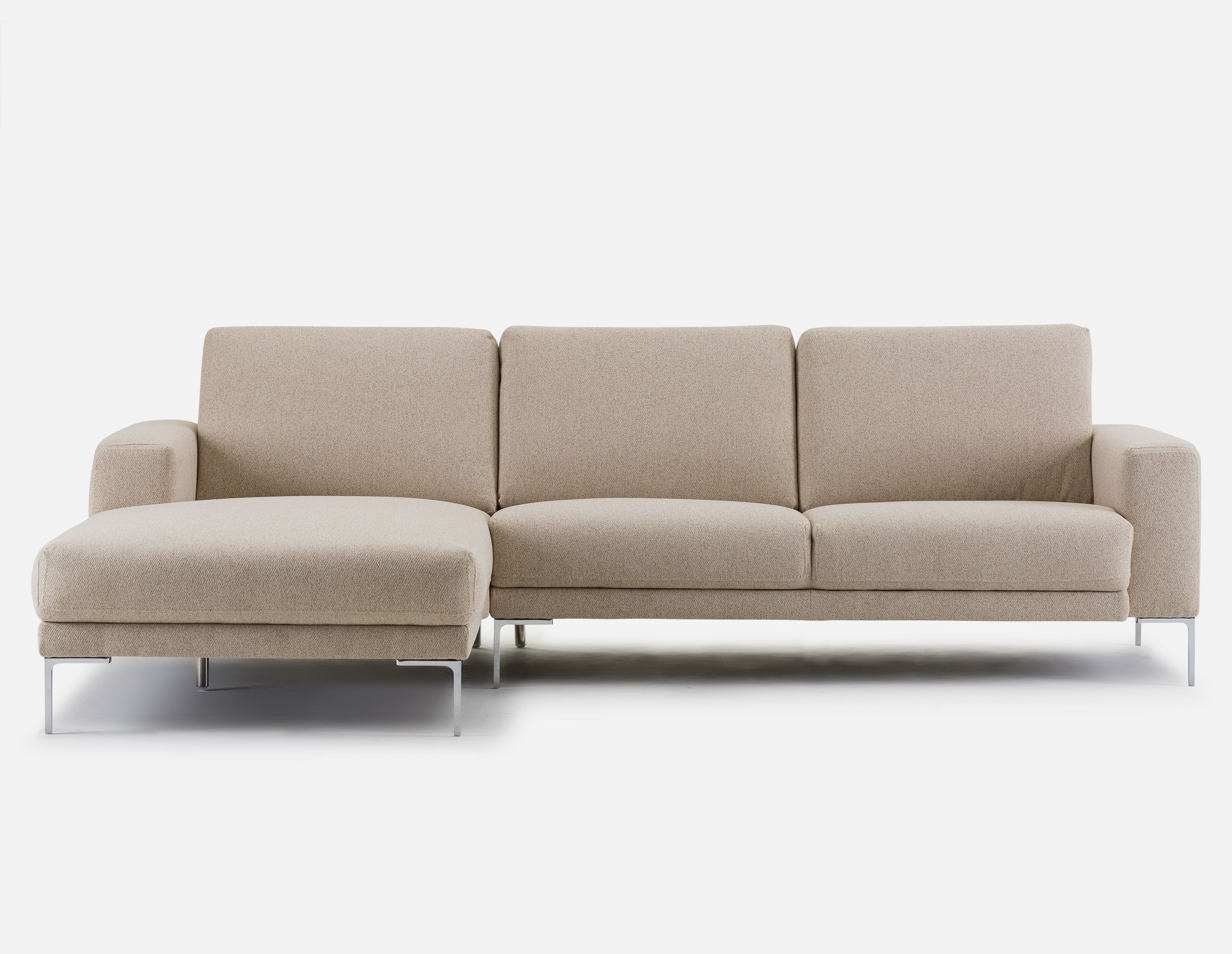 Beige Left Facing Sectional Sofa Structube Seville Sectional