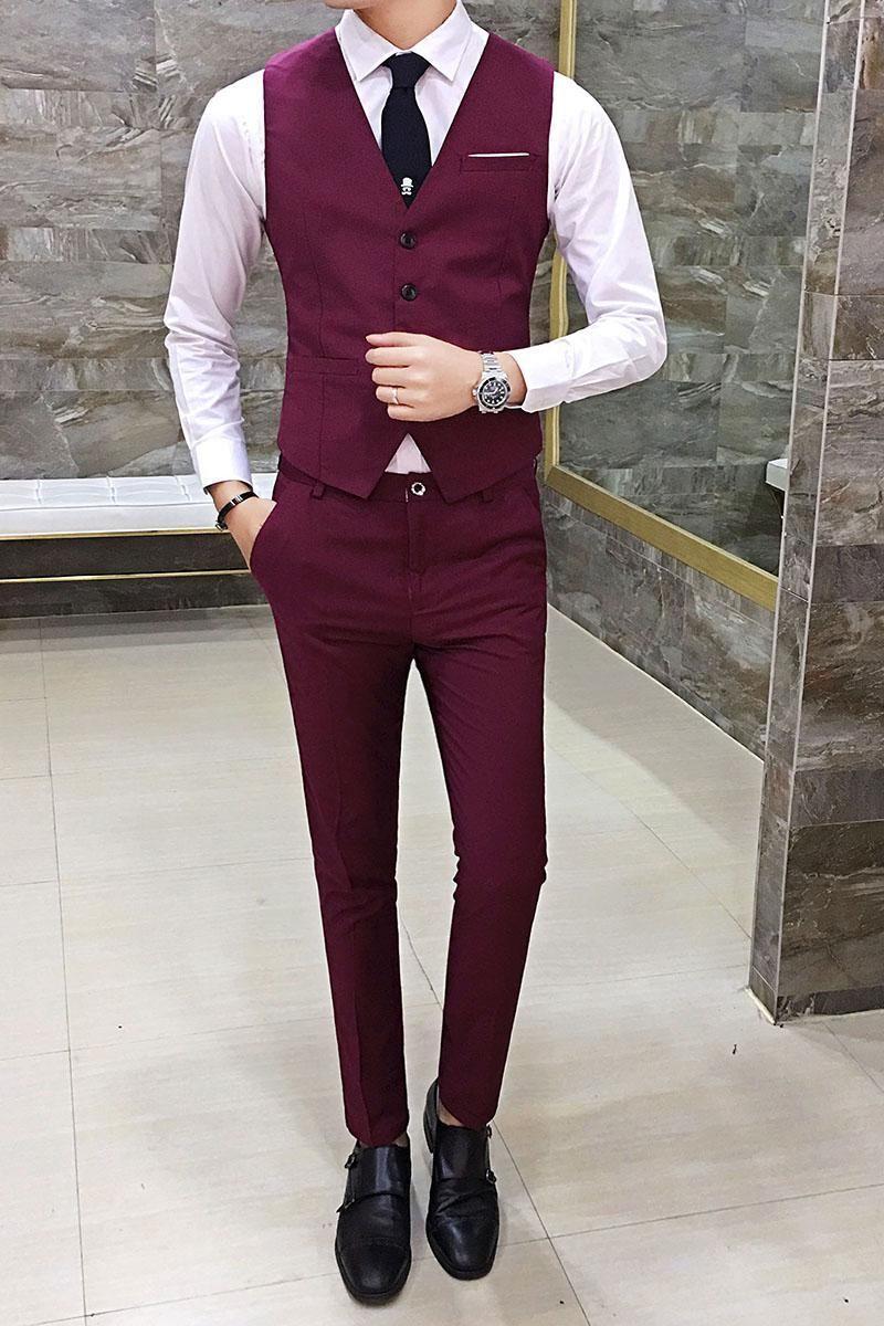 Zeeshant New Fashion Men Slim Suit Vests Single Breasted Business Casual Suit Vest Party Wedding Waistco Mens Dress Vests Men Vest Outfits Business Casual Suit,Empire Waistline Plus Size Empire Waist Wedding Dresses With Sleeves