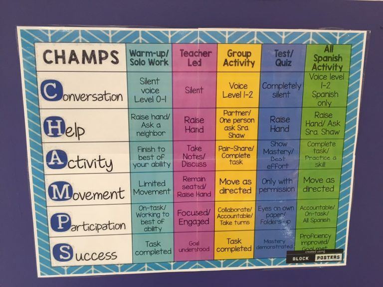 Classroom Management Plan Template Lovely Champs Classroom