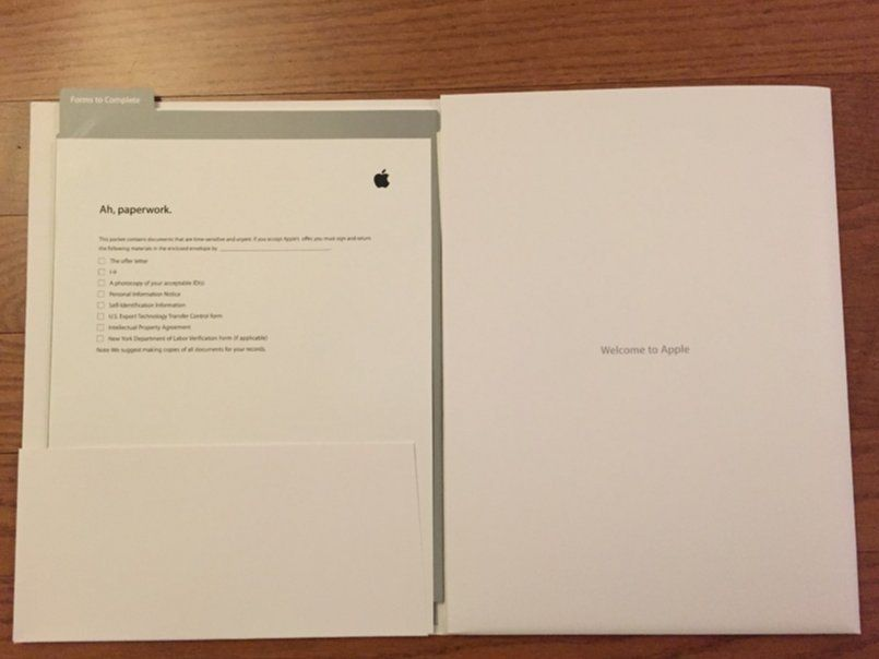 apple new hire packet - Google Search New hire experience - job offer