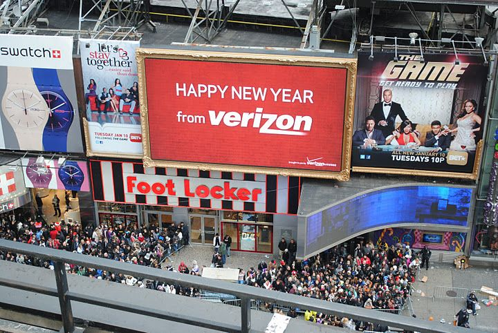 Interactive Bill Board New Years Eve at Times Square