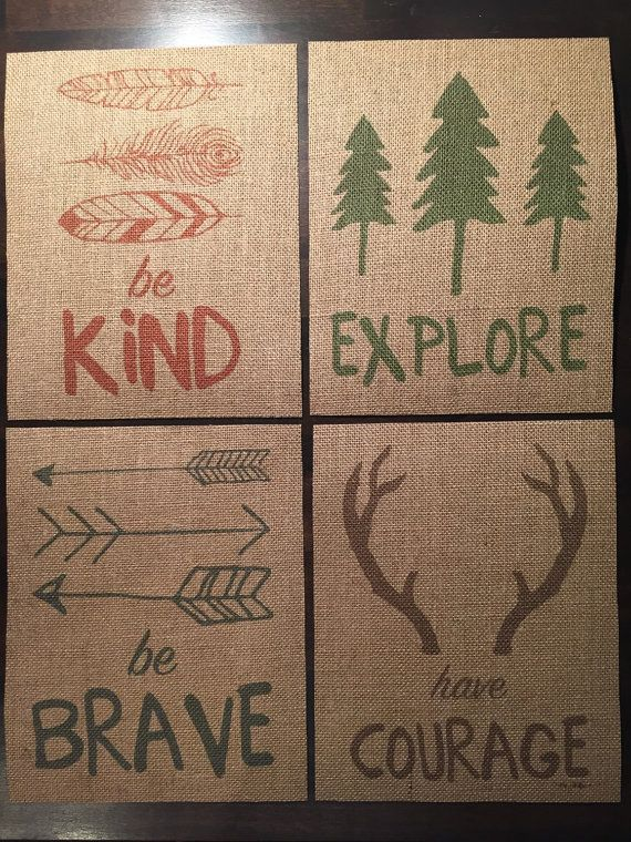 8x10  Have Courage Be Brave Explore Be Kind  by PorterDesignCo