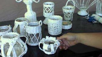 Portavelas al Crochet - YouTube