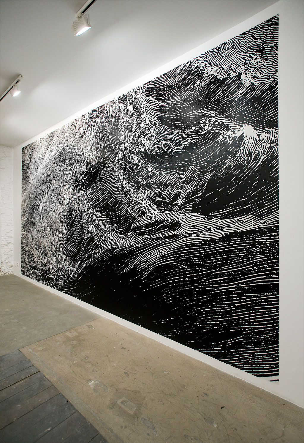 Jorge Méndez Blake : Travesía Cuatro Naufragio 2011 Vinyl on wall Variable dimensions