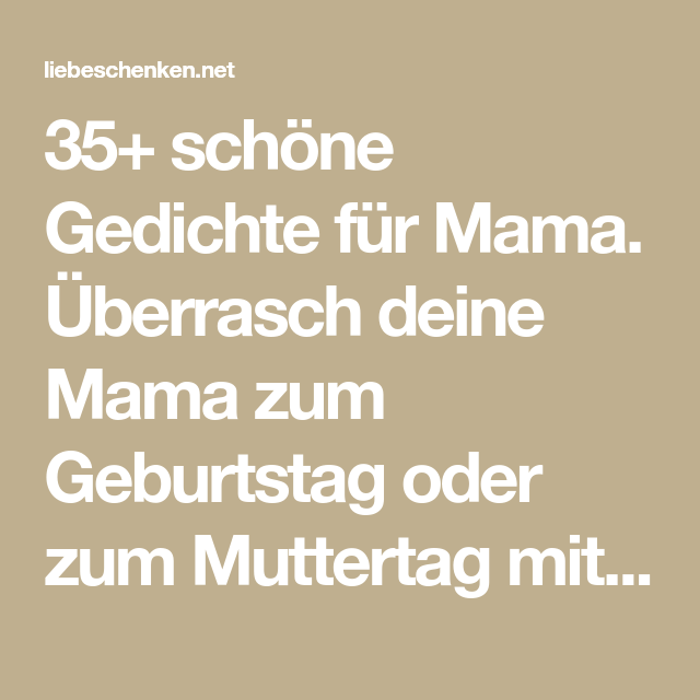 Schone spruche zum 50 geburtstag von mama