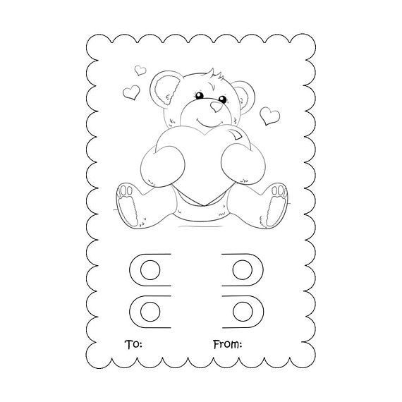 svg  coloring card svg  valentine crayon card template