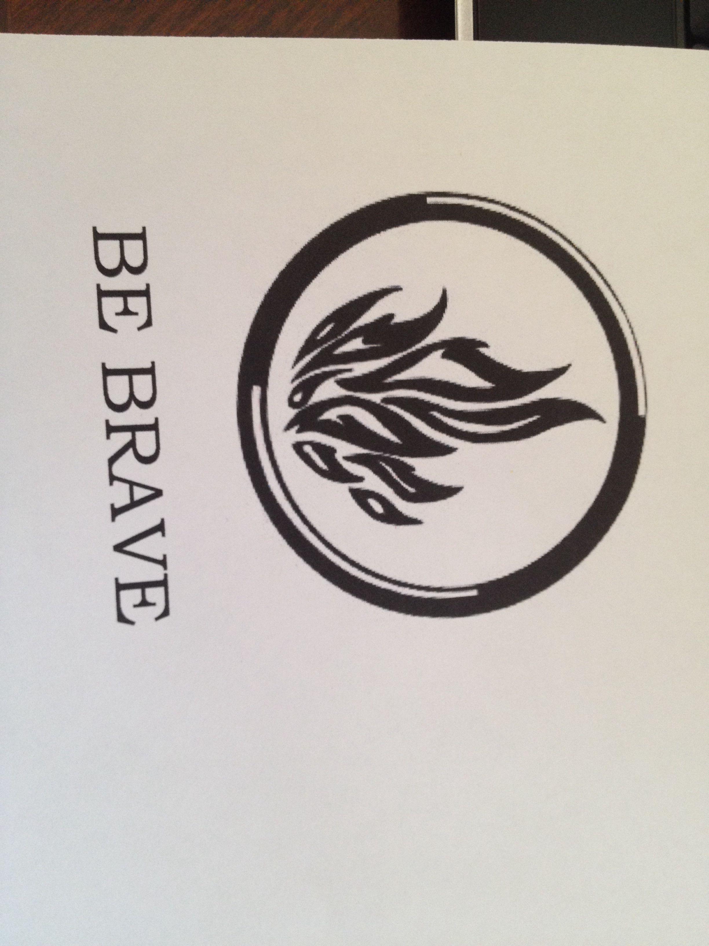 be brave dauntless symbol divergent tattoo idea tattoo