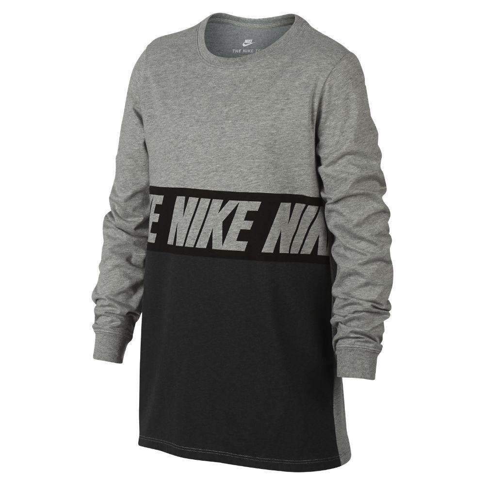 beb2a02f0be9 Nike Sportswear Advance 15 Big Kids  (Boys ) Long Sleeve T-Shirt Size  Medium (Grey)