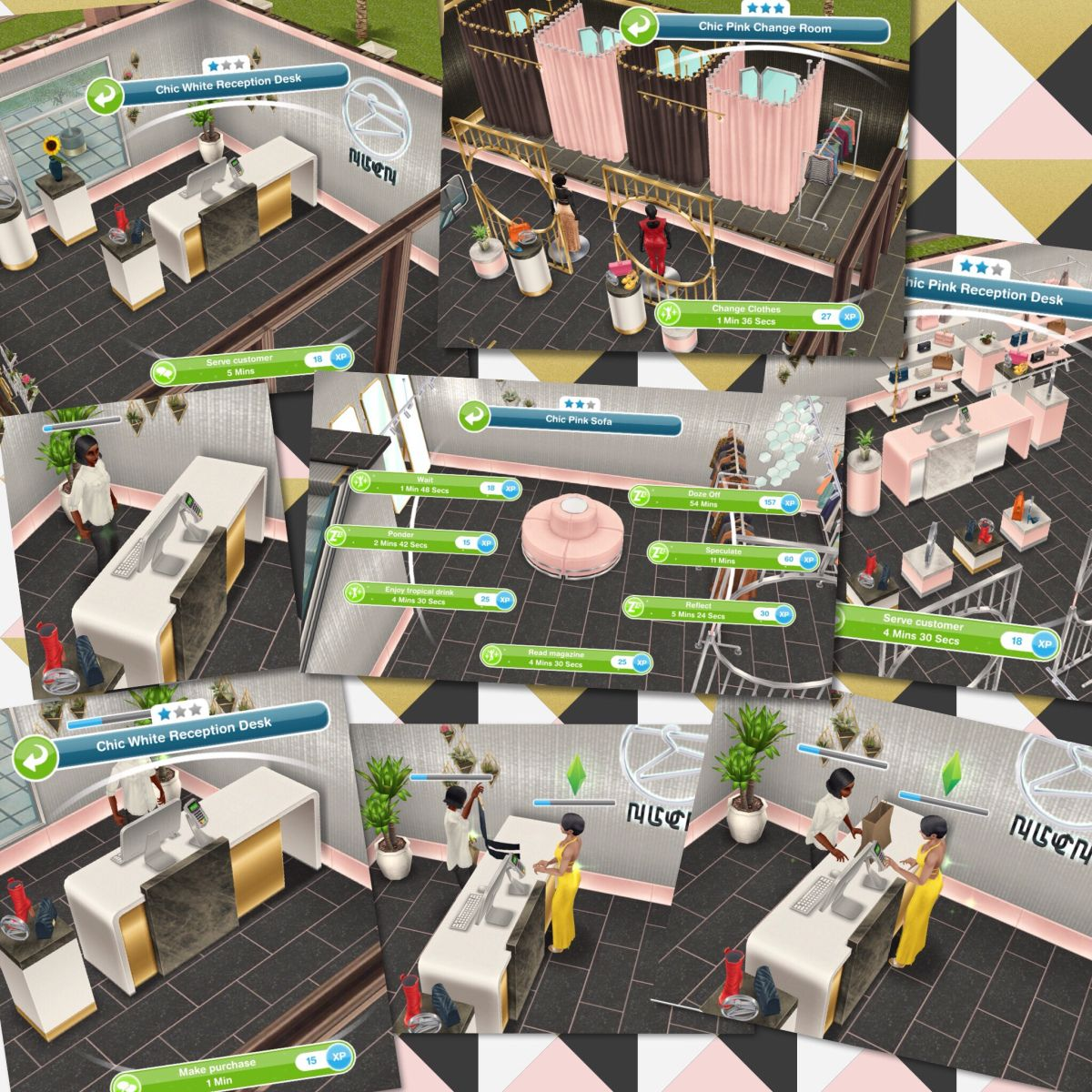 The Sims Freeplay Chic Boutique Live Event The Girl Who Games Boutique Living Sims Sims House
