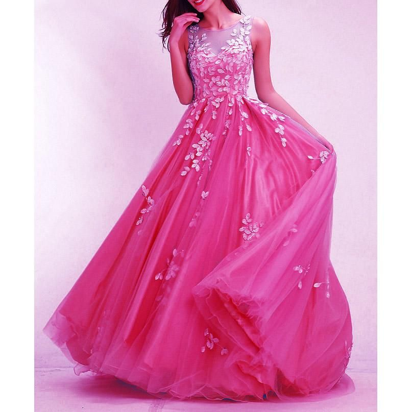 Hot Pink Prom Dresses Long 2020 Senior Prom Gown with ...