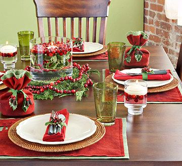 45 Easy Handmade Christmas Ornaments To Start Making Now Christmas Table Centerpieces Christmas Table Settings Christmas Table